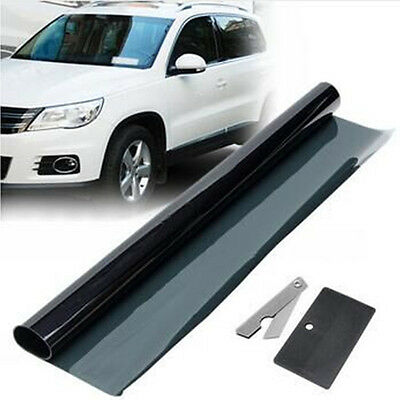 50*300cm Car Window Tint Film 15% Black For Car Window Glass Sun Shade Sticker