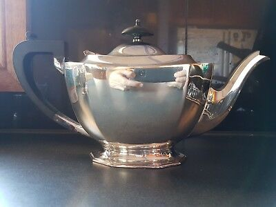 Vintage Silverware Teapot With Strainer FC & Co