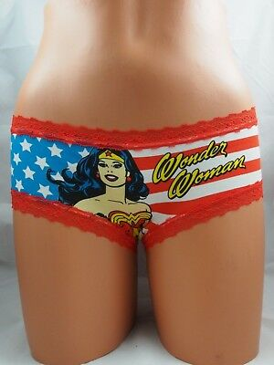 Wonder Woman Panties Sizes 8 10 14 16 DC Comics Underwear Superhero Costume