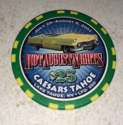 Caesars Tahoe $25 Casino Chip Lake Tahoe Nevada 2.99 Shipping