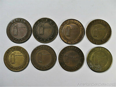 (8) Various Vintage Parcoa Parking Tokens Look | 9943