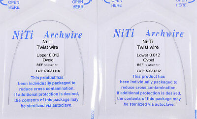 10Pc Dental Orthodontic Bracket Twist Arch Wire Niti Round  For Lingual Retainer