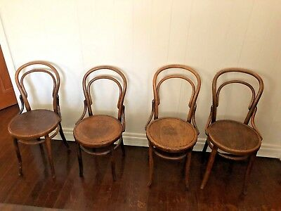 Antique bentwood Thonet No. 14 chairs x 4