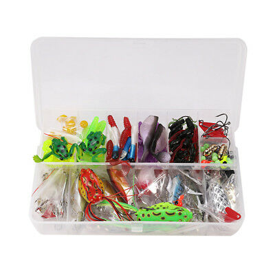 141pcs set Fishing Lure Tackle Kit Bionic Bass Trout Salmon Pike with Box