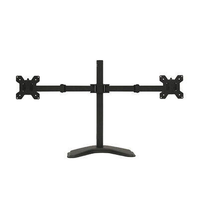 """Fully Adjustable Dual Monitor Mount Free Stand for 2 LCD LED screens up to 27"""""""