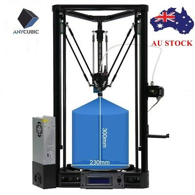AU STOCK ANYCUBIC 3D Printer KOSSEL Plus Linear Auto Leveling with PLA Filament
