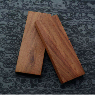 2pcs Sword Knife Handle Mahogany Wood Material Scale Slabs DIY Tool 126*44*13mm