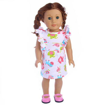 "2018 Handmade fashion dress for 18"" American Girl ZAPF doll b141"