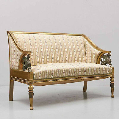 Empire Sofa - Bank mit Figuren - um 1850