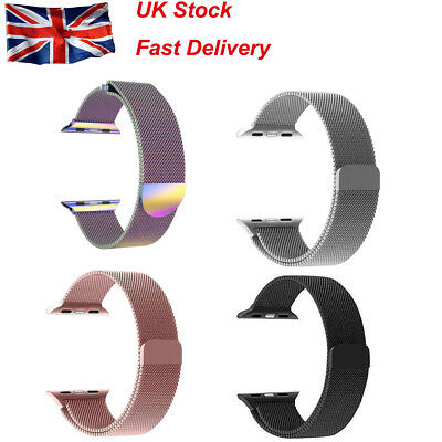 For Apple Watch Band Magnetic Milanese Loop Mesh Smooth Stainless Steel Strap Uk