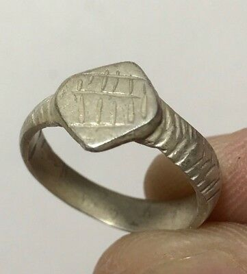 ANCIENT ROMA SILVER RING VERY NICE 2.8gr 10mm (17mm inner)