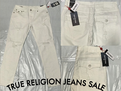 Men's True Religion Jeans Geno Relaxed Slim White Brand New With Tags