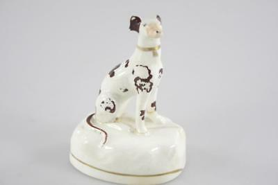 Antique English Ceramic Hound Dog Figure Sheffield