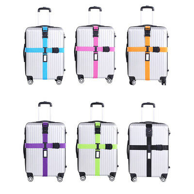 Adjustable Luggage Suitcase Cross Strap Baggage Tie Belts Password Lock Reliable
