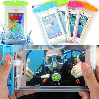 Mobile Phone Waterproof Cover Bag Underwater Fluorescence Dry Pouch Case iPhone