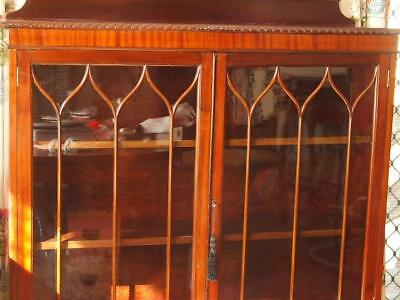 Antique Vintage mahogany crystal display cabinet c 1920 Melb pick up only