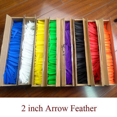 "100pcs 2"" Archery Arrow Rubber Feather Vanes DIY Fletching Fletches Bow Hunting"