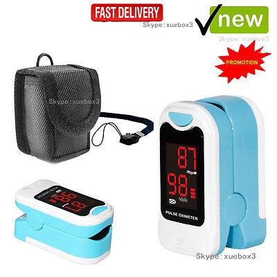 Blood Oxygen Finger Pulse Oximeter Oxymeter SPO2 Heart Rate Monitor + Pouch+bag