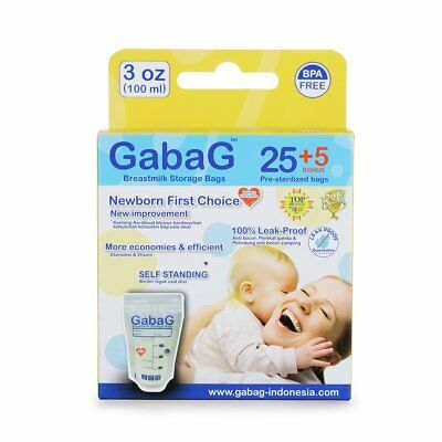 30 Pcs Gabag Breast Milk Storage Bag BPA Free Breastfeeding Disposable OV