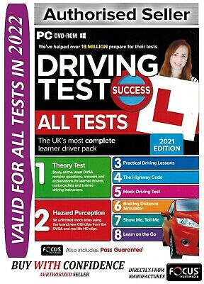 2019 Driving Theory Test All Tests & Hazard Perception PC DVD NEW - wt*ATpc