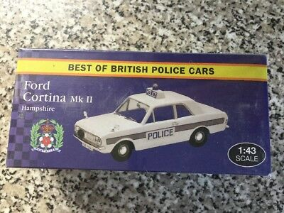 Atlas Editions Ford Cortina Mk2 Best of British Police Cars' - Model Scale 1:43