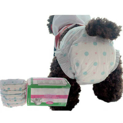 10X Disposable Female Pet Dog Diaper Pants Physiological Sanitary Underwear Fadd