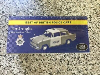 Atlas Editions Ford Anglia Met Best of British Police Cars' - Model Scale 1:43