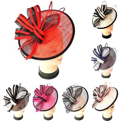 Ladies Large Headband Clip Hat Fascinator Weddings Special Day Race Royal Ascot