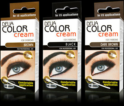 3xDelia® Professional Henna,Beautiful Eyebrow ALL Colors Cream+Easy Tint Kit Set
