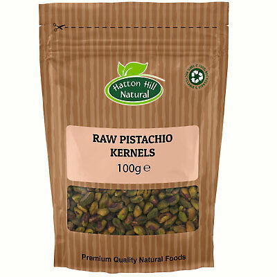 Raw Pistachio Nuts Kernels 100g Unsalted & Unroasted
