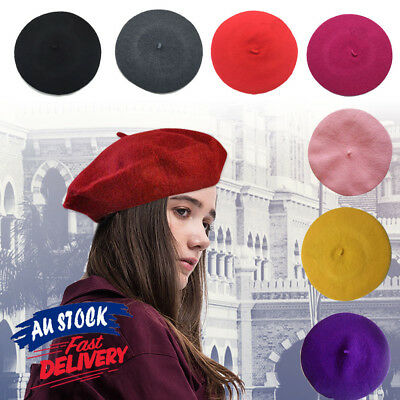 Women's Ladies Newsboy Acrylic Hat Cap French Beret Winter Warm Unisex Wool