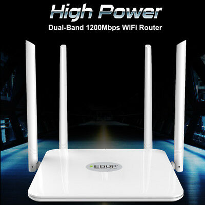 EDUP High Power Dual Band AC 1200Mbps Wireless Wifi Router 2.4/5GHz Wi-Fi Router