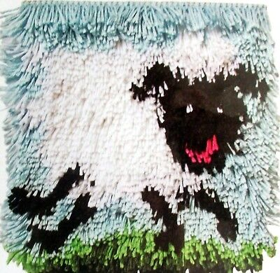 "Caron Latch Hook Animal Rug/pillow Canvas Kit ""shaggy Sheep"""