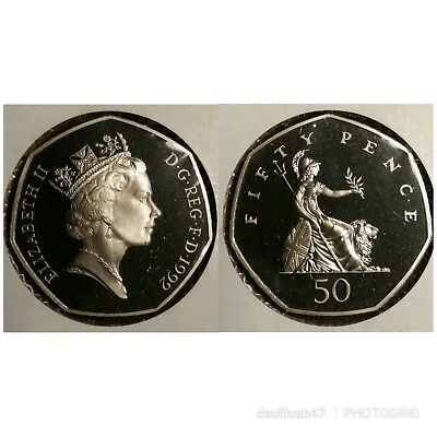 Great Britain 1992 Proof 50 Pence