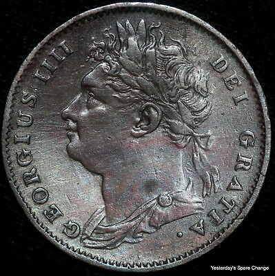 1826 Nice Grade Great Britain KM-677 George IV One Farthing!!
