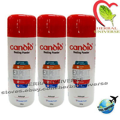 3x Candid Dusting Powder Fungal Infection Prickly Heat Expert Skin Solution 100g
