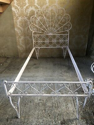 Vintage Antique Wrought Iron Bed