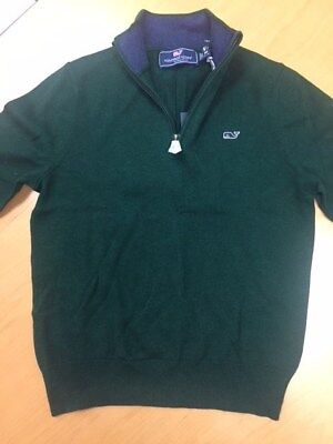 NWT Vineyard Vines Boys M 1/2 zip pull over sweater