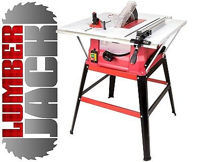 """Bench Table Saw 240v with 10"""" Blade & Stand 3 Extensions 2 Sides & Rear 1500W"""