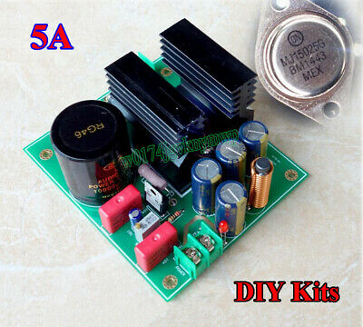 5A MJL15025 Linear Large Current Regulated Power Supply Board DIY Kits Low Noise
