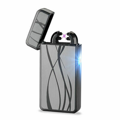 Dual Arc USB Electric Rechargeable Windproof Flameless Plasma Cigarette Lighter