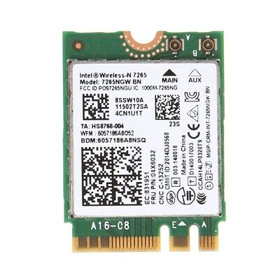 For Intel Wireless-N 7265 7265NGW BN Dual Band Bluetooth 4.0 2x2 Wi-Fi WiFi Card