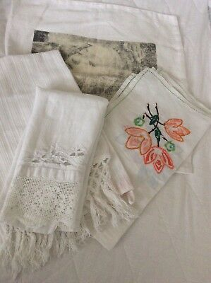 Vintage Linen Bargain Bundle All In Good Condition