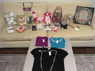 Amazing 25 Item Mixed Wholesale Lot Clothes Jewelry Gadgets Crystal+++ALL NWT!!!
