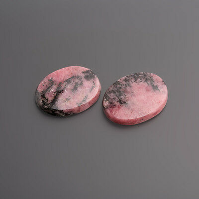 Rhodonite cabochon flat oval 20 x 15 mm Pink-Black/Box