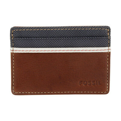 Fossil Elgin Id Card Case Front Pocket Brown Wallet Ml3311