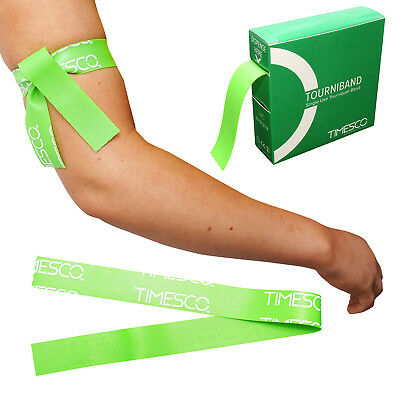 Timesco First Aid Emergency Disposable Stretch Tourniquets, Multi Pack Sizes