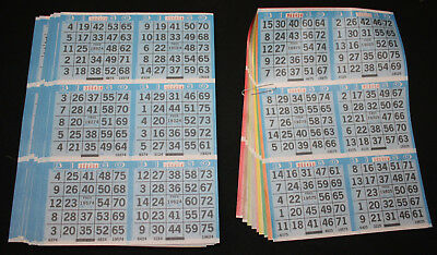 Bingo Paper Cards Sheets 6 on 11 up 50 Packs//Books 3300 Faces FREE SHIPPING
