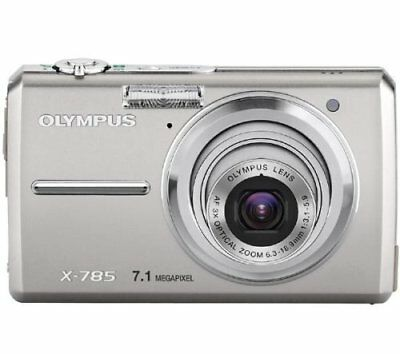 OLYMPUS X-Series FE-220 7MP Metal Digital Camera Camcorder Silver 3x Signed PP