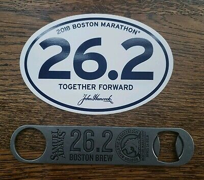 2018 Sam Samuel Adams Boston Marathon 26.2 Paddle Beer Bottle Opener
